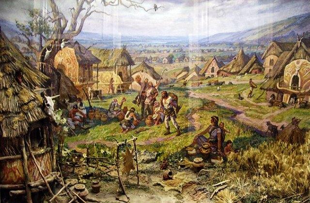 поселение трипольцев settlement Trypillians