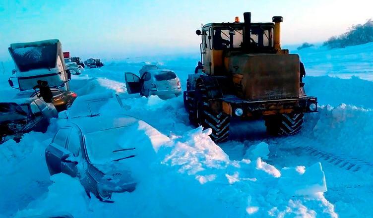 Снежный плен. Трасса Измаил Одесса