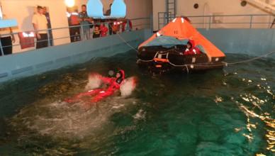 Занятия на судне-тренажере «Новый Донбасс»