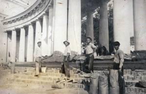 строительство колоннады измаильского собора