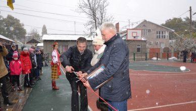 В Измаиле открыта баскетбольная площадка